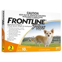 Frontline Plus - Small Dog to 10kg - Orange 3pk