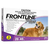 Frontline Plus - Large Dog 20-40kg - Purple 3pk